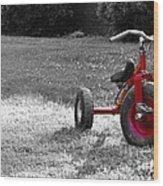 Little Red Trike Wood Print