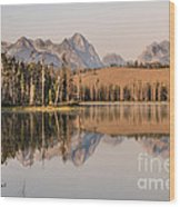 Little Redfish Lake Reflections Wood Print