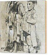 Little Refugees - Greek Orphans Wood Print