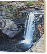 Little River Falls Wood Print