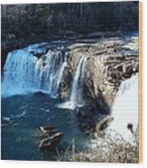 Little River Falls Wood Print