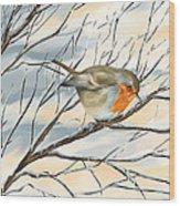 Little Robin Wood Print