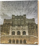 Little Rock Central High Reflecting Upon The Past Wood Print by Jason Politte