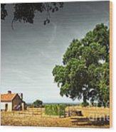 Little Rural House Wood Print