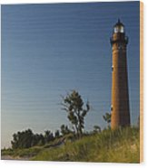 Little Sable Lighthouse By Silver Lake Michigan No.557 Wood Print