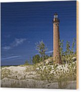 Little Sable Point Light No.0285 Wood Print