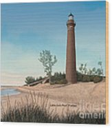 Little Sable Point Lighthouse Titled Wood Print