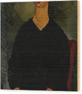 Little Servant Girl Wood Print by Amedeo Modigliani