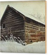 Little Shed Wood Print by Julie Hamilton