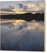 Little Silver Lake Sunset Wood Print