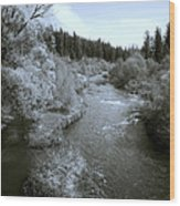 Little Spokane River Beauty Wood Print