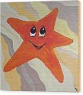 Little Starfish Wood Print
