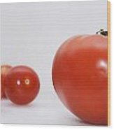 Little Tomatoes And One Big Tomato Wood Print