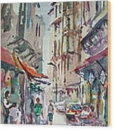 Little Trip At Exotic Streets In Istanbul Wood Print