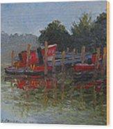 Little Tugs In Holland Michigan Wood Print