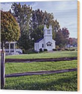 Little Village Chapel Of The Immanuel Lutheran Church Wood Print