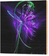 Little Violet Flower Wood Print