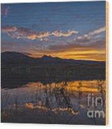 Little Washoe Summer Reflections Wood Print