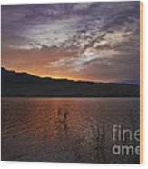 Little Washoe Sunset Wood Print