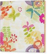 Little Watercolor Garden Wood Print