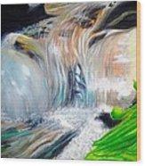 Little Waterfall Wood Print