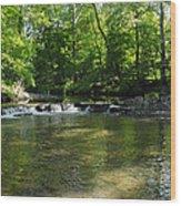 Little Waterfall At Green Lane Pa. Wood Print
