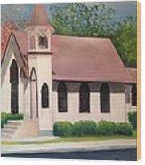 Little White Church Wood Print