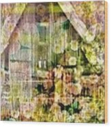 Little Witch Cottage Wood Print