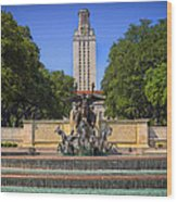 Littlefield Fountain - University Of Texas Wood Print