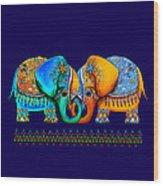 Littlest Elephant Love Links Wood Print