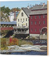 Littleton Gristmill Wood Print