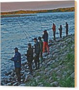 Liturgy Of The Salmon Fishing. Doctor Andrzej Goszcz. Wood Print