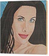 Liv Tyler Painting Portrait Wood Print