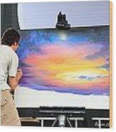 Live Artist Justin Roberts Rw2k14 Wood Print
