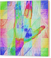 Live Long And Prosper 20150302v1 Color Squares Sq Wood Print