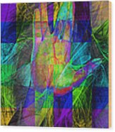 Live Long And Prosper 20150302v2 Color Squares With Text Wood Print