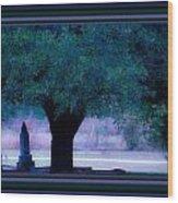 Live Oak Tree In Cemetery Wood Print