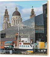 Liverpool Docklands Wood Print