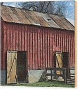 Livestock Barn Wood Print