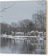 Living By The River Wood Print