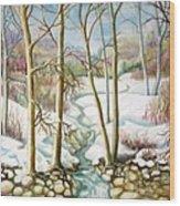 Living Creek Wood Print