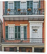 Living High In The French Quarter Wood Print