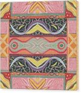 Living In The Pink 1 - Tjod X V I Arrangement Wood Print