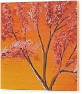 Living Loving Tree Top Right Wood Print