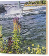 Living On The Edge Niagara Falls Wood Print