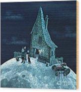 Living On The Moon Wood Print