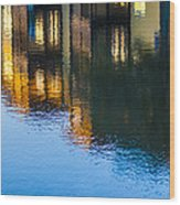 Living On The Water - 3 Wood Print