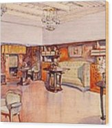 Living Room, 1905 Wood Print by Alfred Grenander