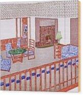 Living Room, Early 1900s Wood Print