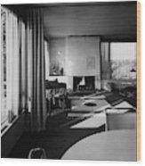 Living Room In Mr. And Mrs. Walter Gropius' House Wood Print